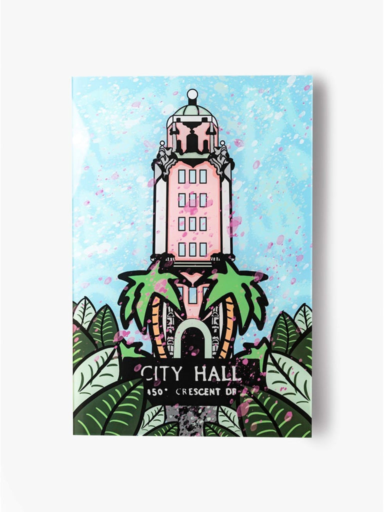 """Beverly Hills: City Hall"" - Glass Print - HYLUS Acrylic Glass Art - Skateboards, Surfboards & Glass Prints Wall Decor for your Home."