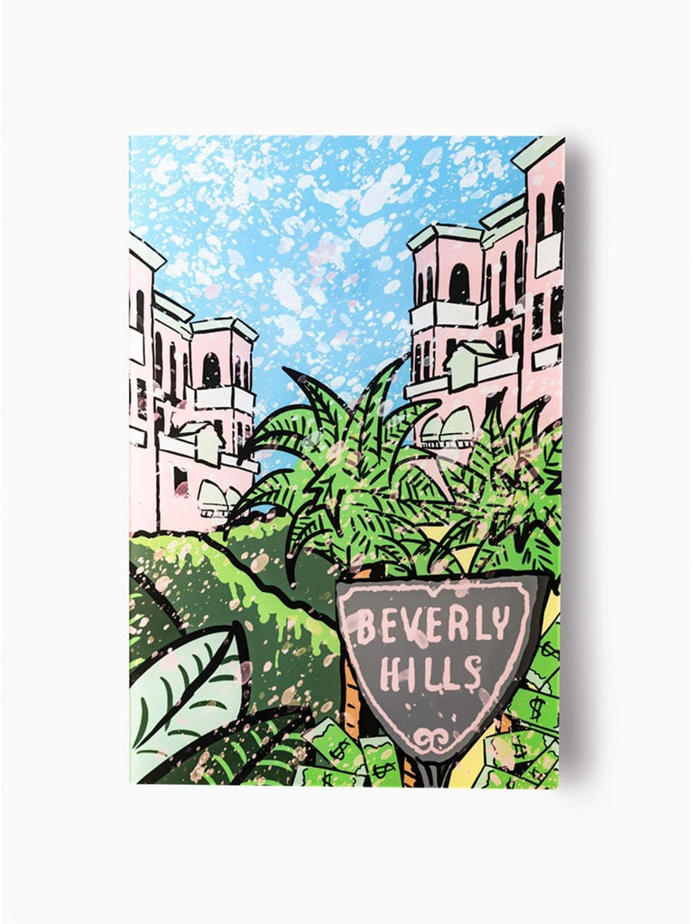 """Beverly Hills: Palm Mansion"" - Glass Print - HYLUS Acrylic Glass Art - Skateboards, Surfboards & Glass Prints Wall Decor for your Home."