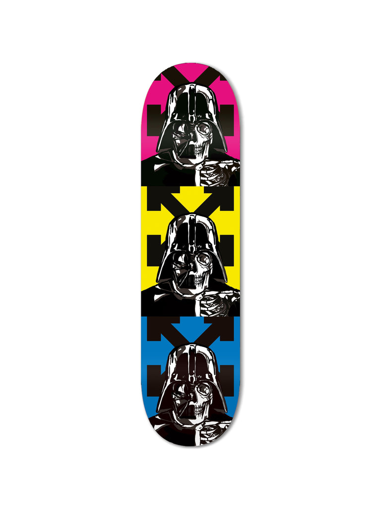 """Space OFF Yellow"" - Skateboard - HYLUS Acrylic Glass Art - Skateboards, Surfboards & Glass Prints Wall Decor for your Home."