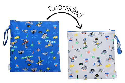 Two-Sided Wet Bag - Dino