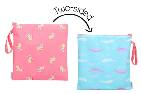 Two-Sided Wet Bag - Mermaid/Narwhal