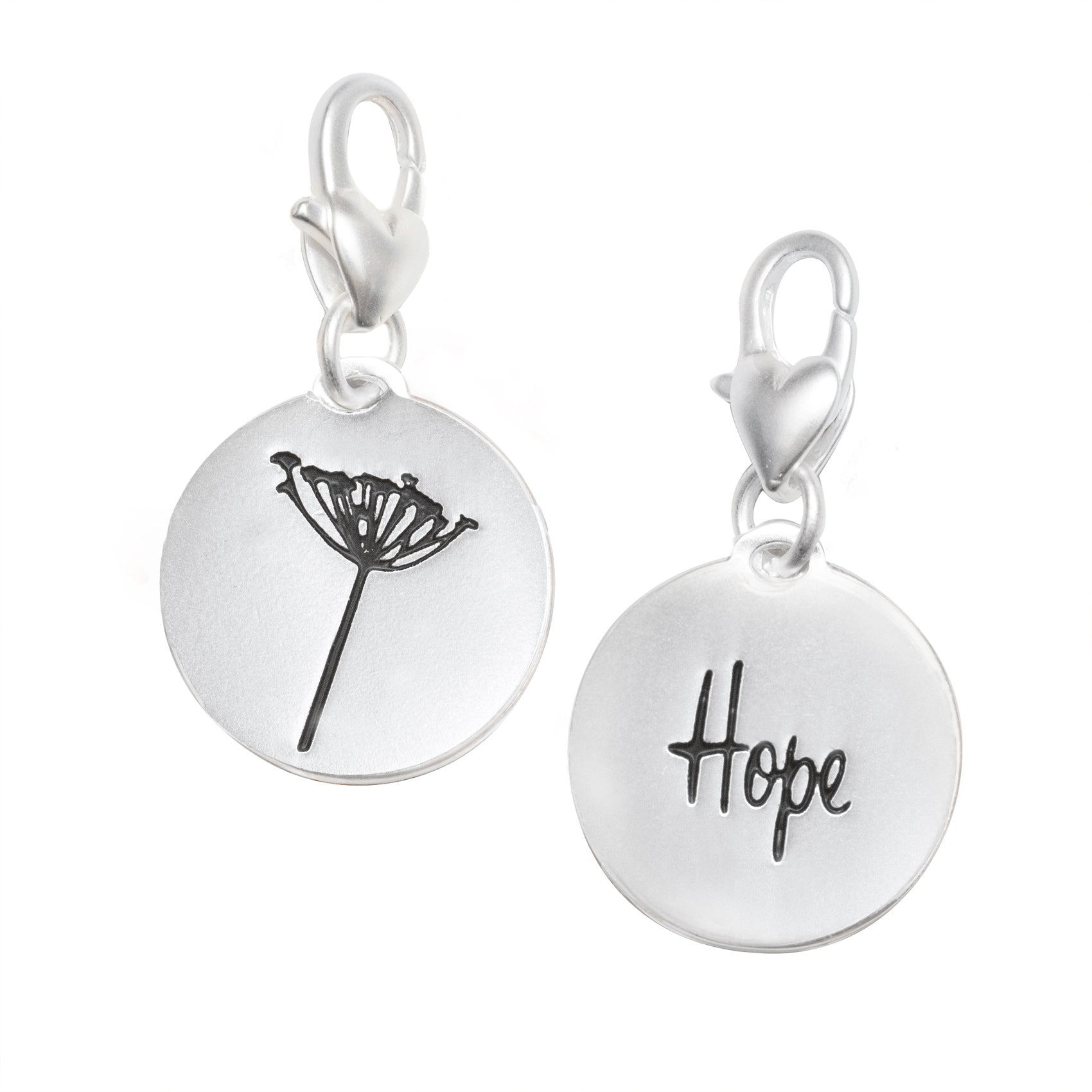 Heartfelt Emotions Silver 1-Tone Medallion - Dandelion