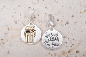 Heartfelt Emotions Silver 2-Tone Medallion - Girlfriends