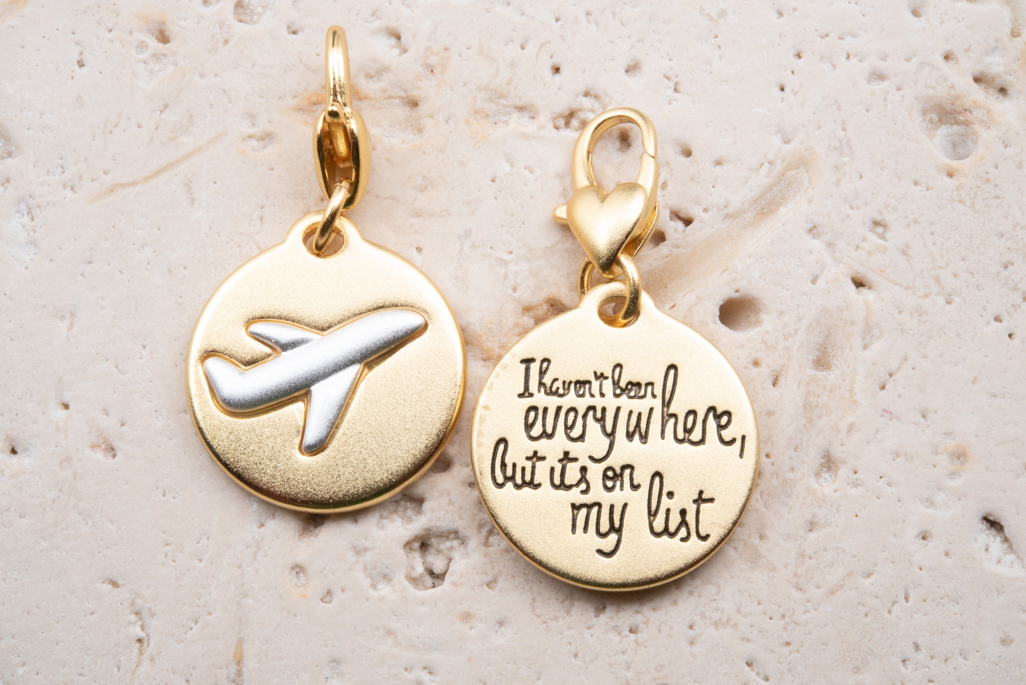 Heartfelt Emotions Gold 2-Tone Medallion - Airplane