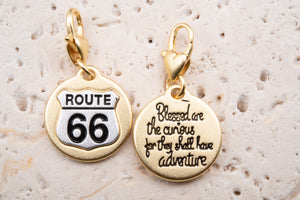 Heartfelt Emotions Gold 2-Tone Medallion - Route 66
