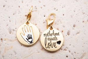 Heartfelt Emotions Gold 2-Tone Medallion - Hands