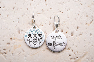 Heartfelt Emotions Silver 1-Tone Medallion - Rainy Flowers