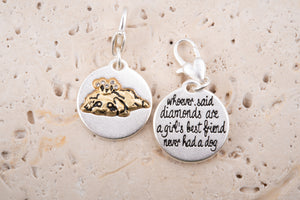 Heartfelt Emotions Silver 2-Tone Medallion - Puppy Crown