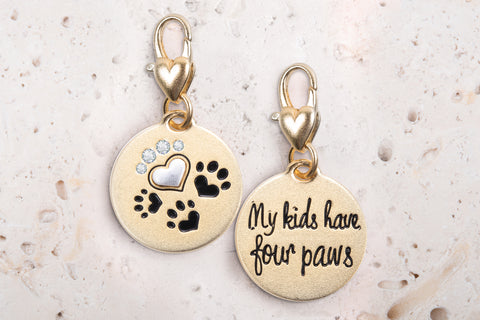 Heartfelt Emotions Gold 2-Tone Medallion - 4 Paws