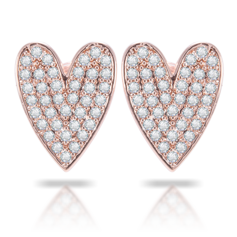 Ice Blu Oblong Heart Earrings