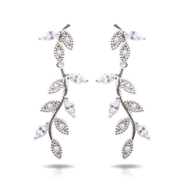 Ice Blu Vine Drop Earrings