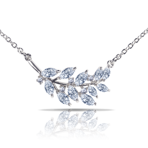 Ice Blu Leaves Necklace