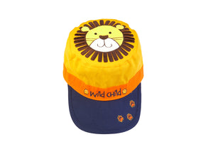 Kids' Reversible Caps - Lion/Monkey