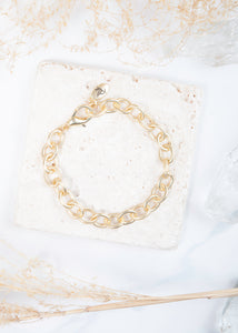 Heartfelt Emotions Chain Bracelet - Matte Gold