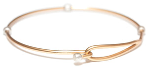 Heartfelt Emotions Clasp 2-Tone Bracelet - Gold with Silver