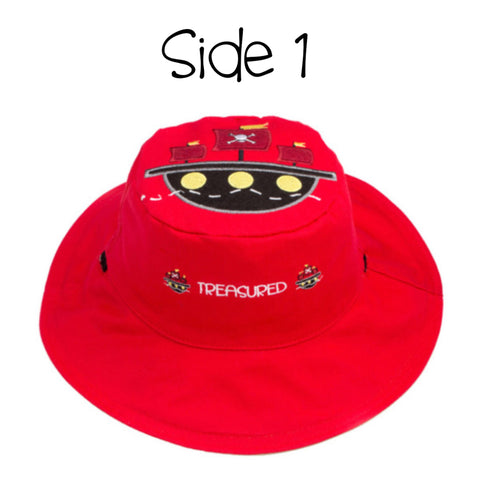 Kids' Sunhat - Pirate Ship/Parrot
