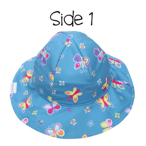 Kids' Patterned Sun Hat - Butterfly/Floral