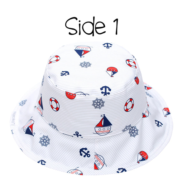 Kids' Patterned Sun Hat - Nautical
