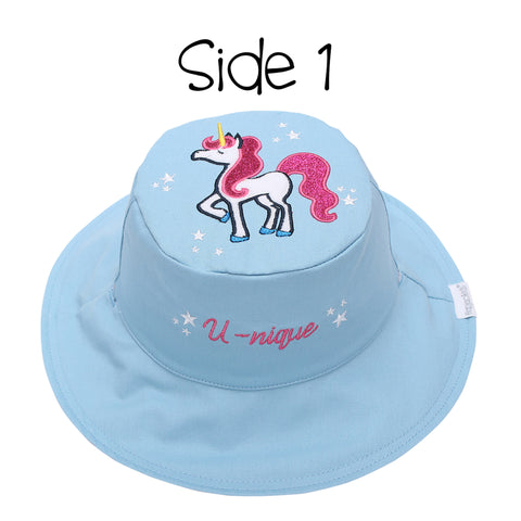 Kids' Sunhat - Rainbow/Unicorn