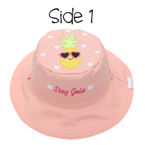 Kids' Sunhat - Flamingo/Pineapple