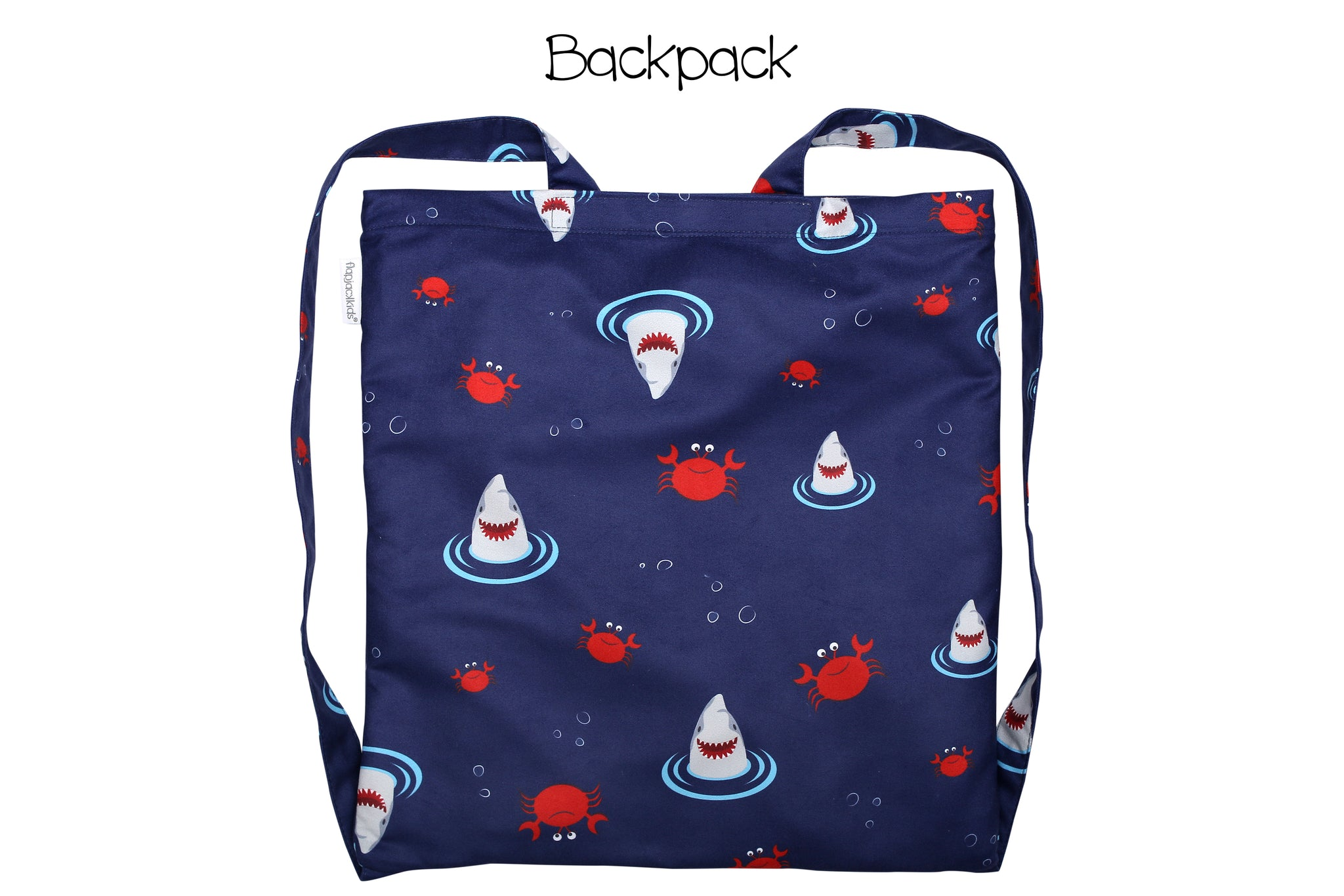 Towel Backpack - Shark/Crab