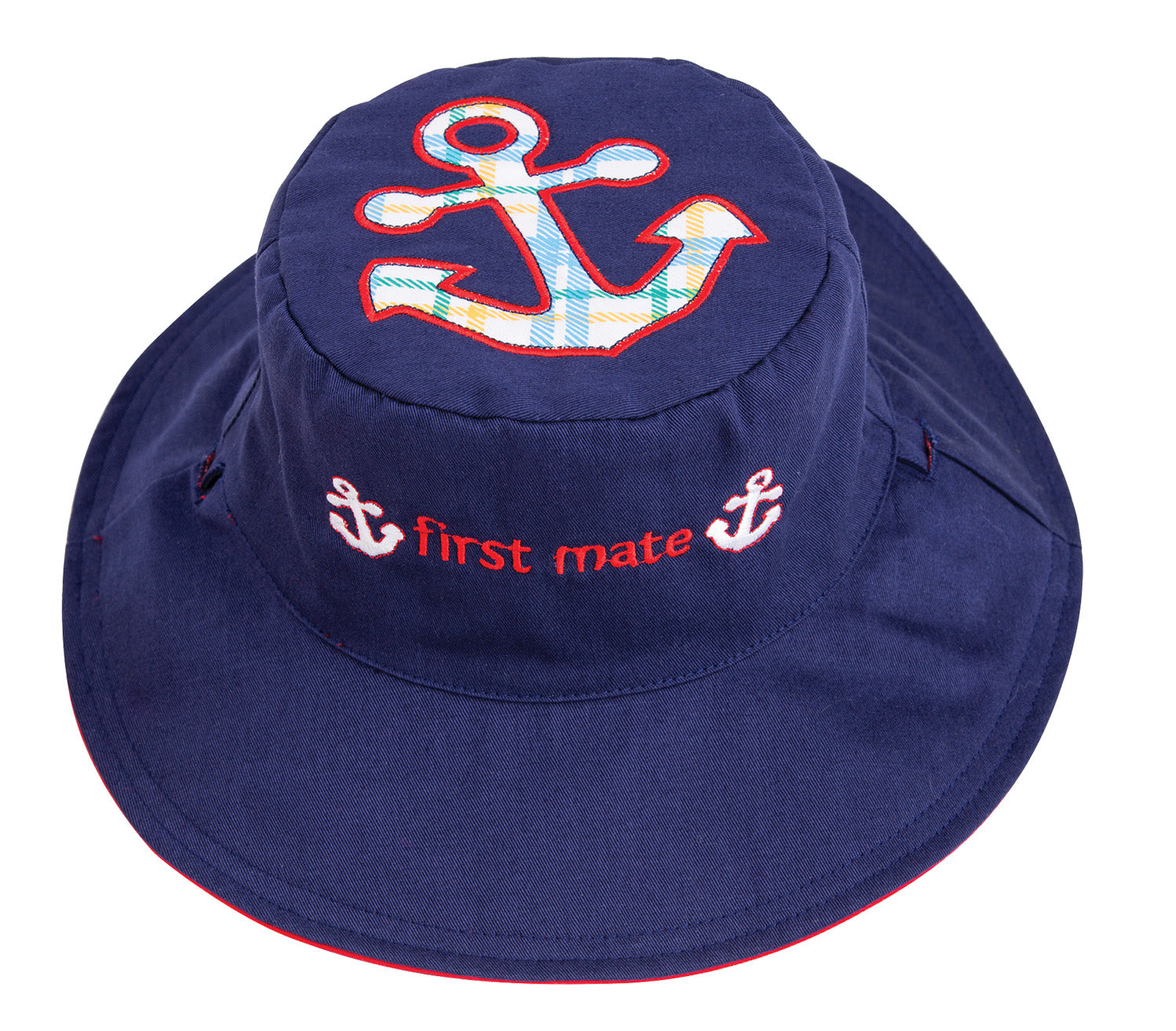 Kids' Sunhat - Anchor/Sailboat