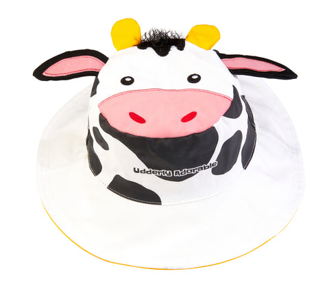Kids' Sunhat - Cow/Yellow Duck