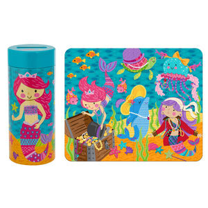Tin Bank with Puzzle - Mermaid