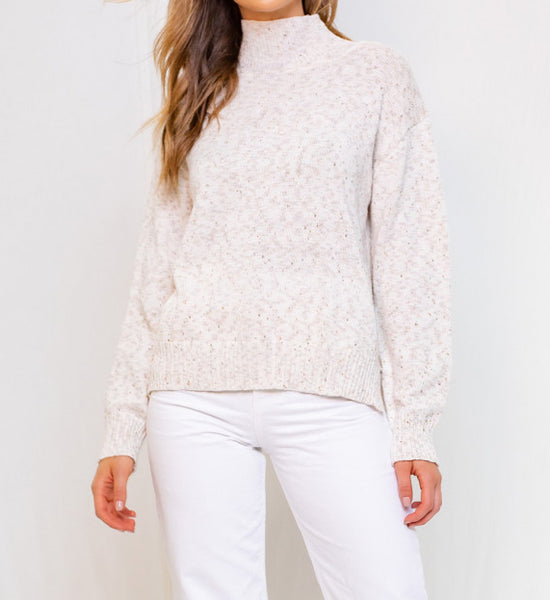 LONGSLEVE SWEATER-OATMEAL