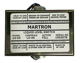 Martron 14-03 Liquid Level Control (Lo-Hi Fill)