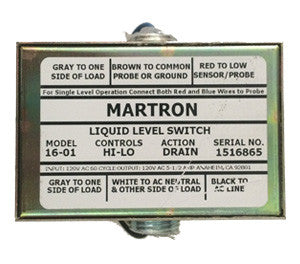 Martron 16-01 Liquid Level Control (Hi-Lo Drain - CE Certification)