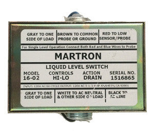 Martron 16-02 Liquid Level Control (Hi-Lo Drain - High Sensitivity)