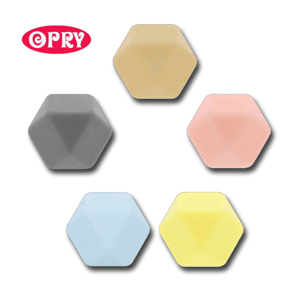 Opry siliconen kralen Hexagon assortiment