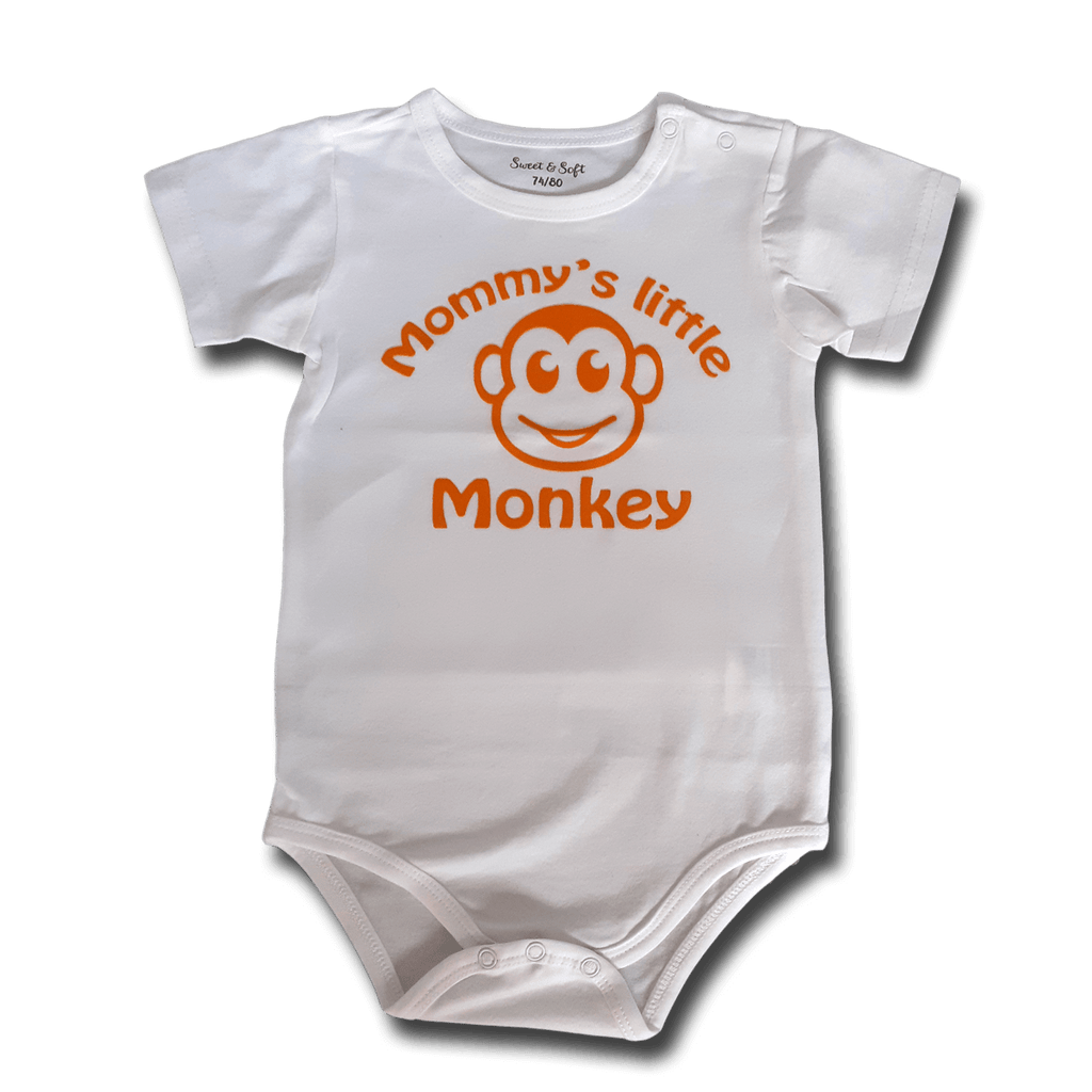 Romper met korte mouwen Mommy's little monkey