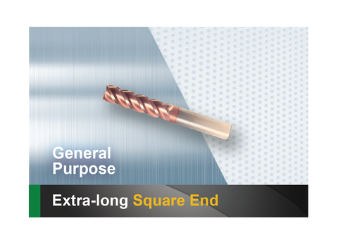 Extra long square end mill SCTools HTC