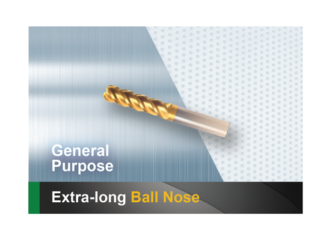 Extra long ball nose end mill SCTools HTC