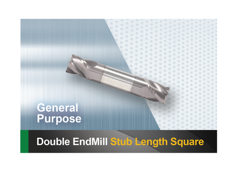 Double end mill stub length end square SCTools HTC