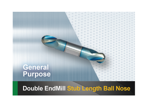Double end mill stub length ball nose SCTools HTC