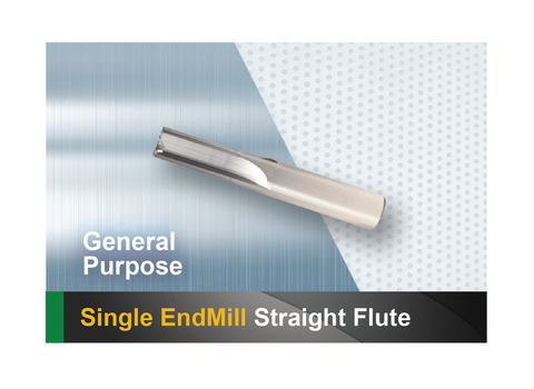 Single End Mill Straight Flute SCTools HTC