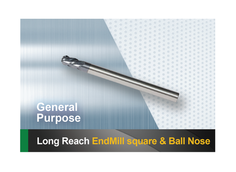 Long reach square end mill and ball nose SCTools HTC