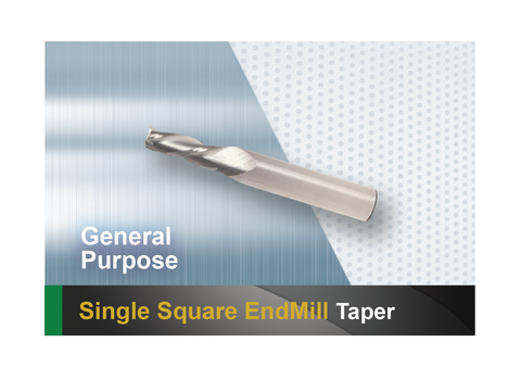 Single square end mill SCTools HTC