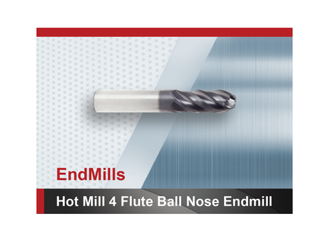Hot Mill 4 flute ball nose end mill SCTools HTC