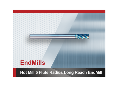 Hot Mill 5 Flute Radius Long Reach Square End Mill SCTools HTC