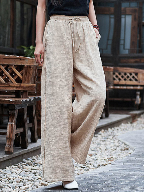 Casual Linen Yoga Pants