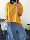 Loose Simple Solid Color T-Shirts