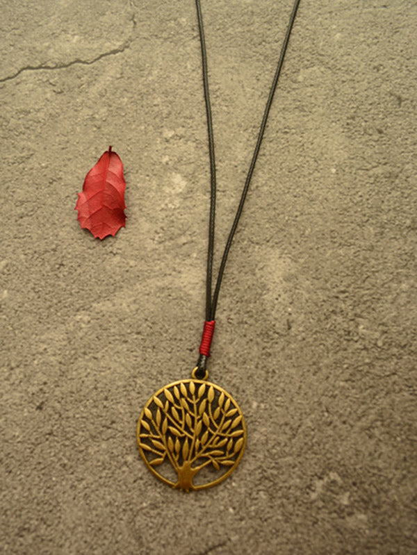 Vintage Ethnic Style Tree Long Necklace