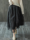 Vintage Double Layer Mesh A-Line Skirt