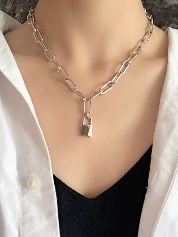 Chic Key Lock Chains Necklace