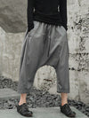 Loose Gray Leisure Harem Pants