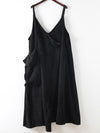 Loose Big Pocket Corduroy A-Line Slip Dress